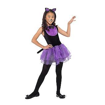 Costume de chat, Halloween déguisements d'enfant, moyen 7-9 ans