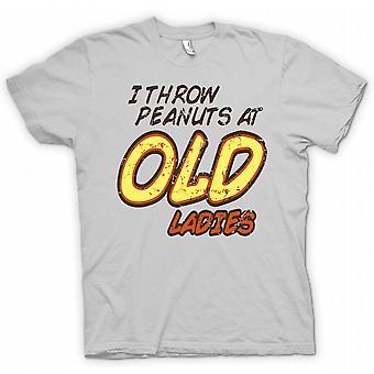 Kids T-shirt - I Throw Peanuts At Old Ladies  - Random Funny