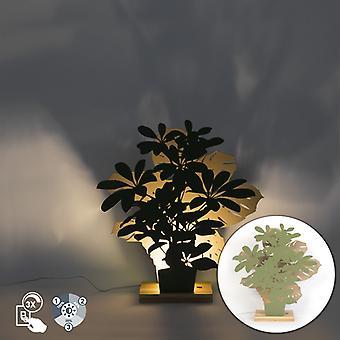 QAZQA Country Tischleuchte Grün und Beige inkl. LED - Silhouetten