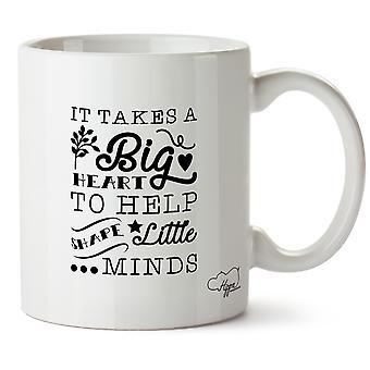 Hippowarehouse es ein großes Herz, wenig zu gestalten braucht Köpfe 10 oz Becher Tasse