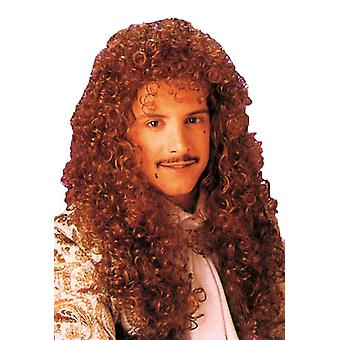 Curly Long Auburn Wig For Adults