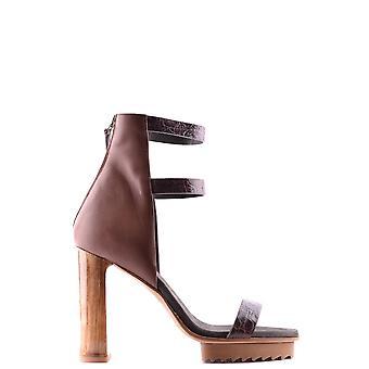 Brunello Cucinelli Ezbc002065 Women's Brown Leather Sandals