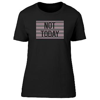 Not Today Slogan In Pink Stripes Tee Men's -Image by Shutterstock