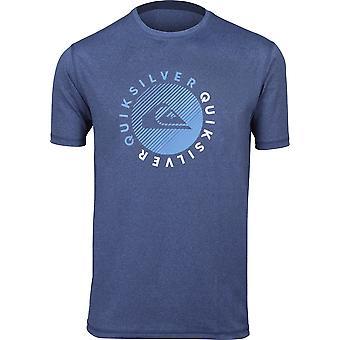 Quiksilver Herren Rasierer SS UPF 50 Surfen t-Shirt - Dark Denim Heather