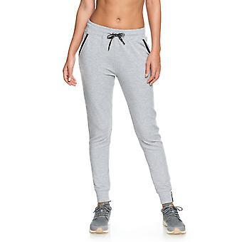 Roxy Womens Down Town With Me Fleece Joggers - Heather Gray