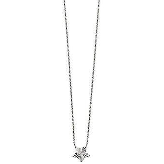 Beginnings Diamond Cut Star Necklace - Silver