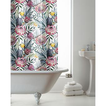 Country Club Hookless Shower Curtain, Tropical