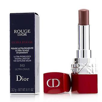 Christian Dior Rouge Dior ultra Rouge-# 843 ultra anhelos-3.2 g/0,11 oz