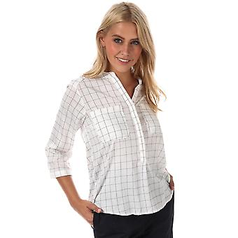 Womens Vero Moda Erika Checker 3/4 Sleeve Shirt In Snow White