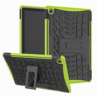 Dla Samsung Galaxy Tab 10.1 T510 / T515 2019 Hybrydowa zewnętrzna obudowa ochronna Obudowa Green Bag