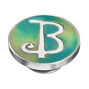 KAMELEON Letter B Sterling Silver Colour JewelPop KJP2