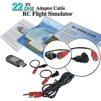 22 in 1 RC Flight Simulator Adapter Cable for G7 Phoenix 5.0 XTR VRC Transmitter Remote Controller FPV Racing