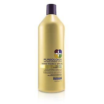 Pureology nano werkt goud shampoo (jeugd-vernieuwende formule voor veeleisende kleur behandeld haar) 1000ml/33.8 oz