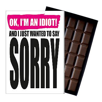 Gift to Say Sorry Apology Present Boxed Chocolate Greeting Card to Apologise IYF199