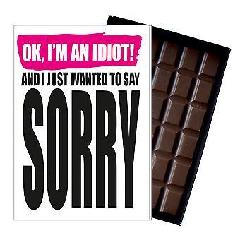 Lahja sanoa anteeksi anteeksipyyntö läsnä boxed suklaa tervehdys kortti anteeksi IYF199