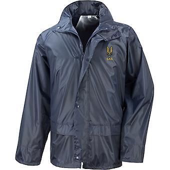 SAS Special Air Service Name - Licensed British Army Embroidered Waterproof Rain Jacket