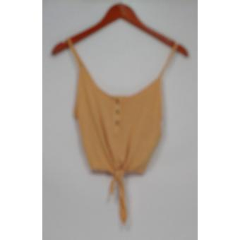 American Eagle Top Knit Camisole with Botton Tie Gold