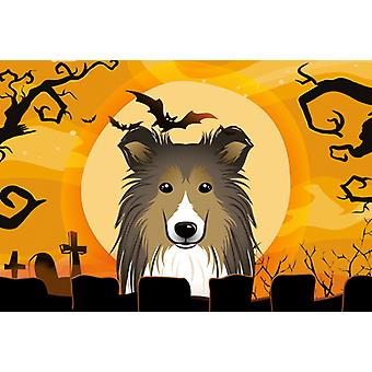 Carolines Treasures  BB1800PLMT Halloween Sheltie Fabric Placemat