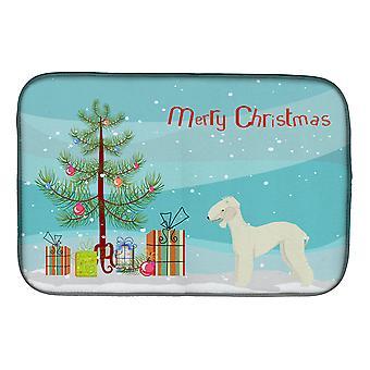 Carolines Treasures  CK3520DDM Bedlington Terrier Christmas Tree Dish Drying Mat