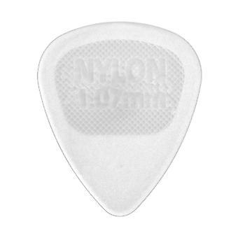 6 Jim Dunlop Classic Guitar Picks/Plectrums - Small Clear 1.00mm