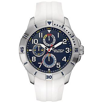 Nautica- nsr 300 Japanese Quartz Analog Man Watch with NAI12514G Silicone Bracelet
