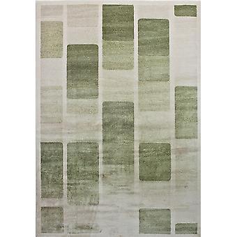 Pierre Cardin design matta i akryl Grädde/Grön
