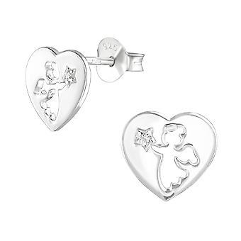 الملاك - 925 الجنيه الاسترليني الفضة مكعب زركونيا الأذن ترصيع - W36786x