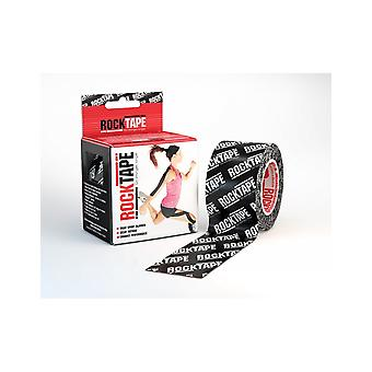 Rocktape Strong Adhesive Kinesiology Tape Patterned Roll - Black Logo