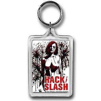 Hack Slash Splatter Lucite Schlüsselanhänger