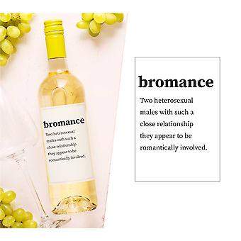 Bromance Wine Bottle Label