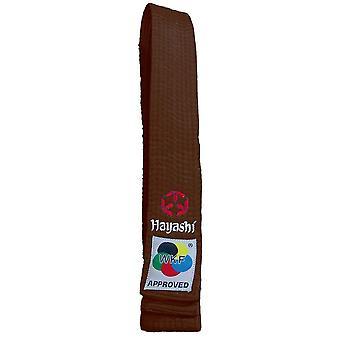 Hayashi WKF Cintura di Karate Marrone