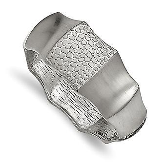 27mm de acero inoxidable cepillado y Textured con bisagras pulsera