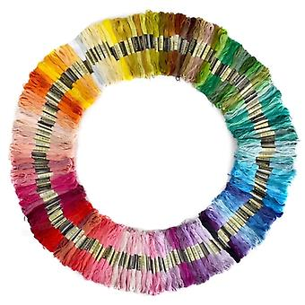 150 Pieces of Mixed Colours Thread Skeins Floss 100% Cotton - for Embroidery Sewing