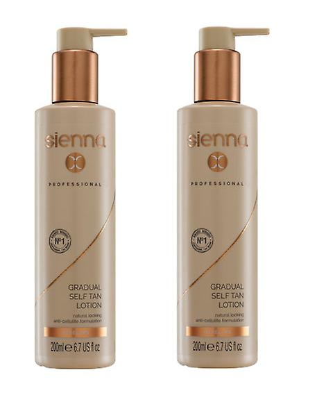 Sienna X Gradual Self Tan Lotion 200ml x2