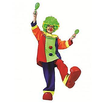 Divertente Colorati Clowns Bambini Costume Carnevale Circo Carnevale Carnevale Pazzo Costume Bambini