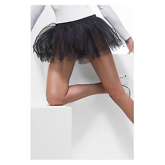 Womens BlackTutu onderjurk Fancy Dress accessoire