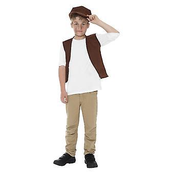 Jungen viktorianischen Urchin Phantasie gesetzt Kleidung Zubehör