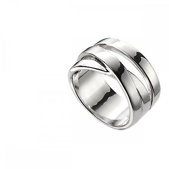 Beginnings  Sterling Silver Wrap Over Band Ring R3703