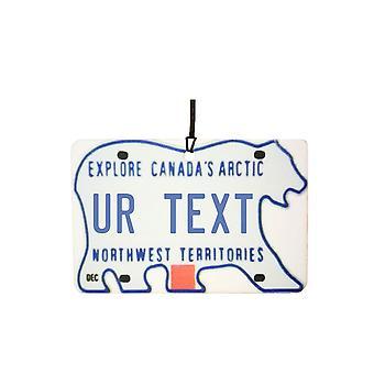 Custom Northwest Territories Numberplate Car Air Freshener