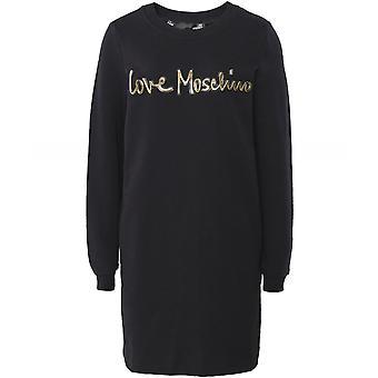 Moschino Love Moschino Logo Sweatshirt Dress
