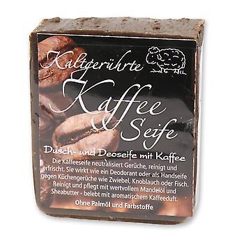 Florex kaltgerührte handgeschöpfte Kaffeeseife Duschseife Deodorant neutralisiert Küchengerüche wie Zwiebel Knoblauch Fisch 150 g
