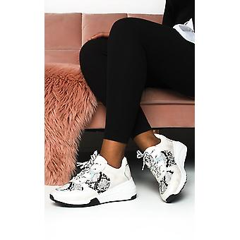 IKRUSH Womens Bethan Chunky Printed Trainers