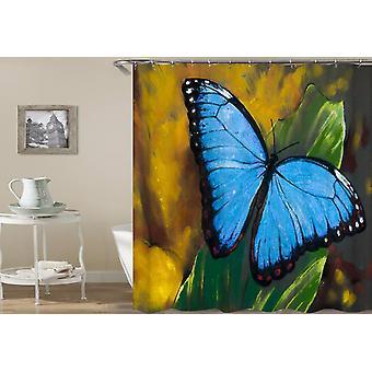 Malibu Blue Butterfly Shower Curtain