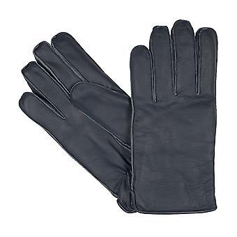 bugatti men's gloves gloves goat nappa leather blue 8350