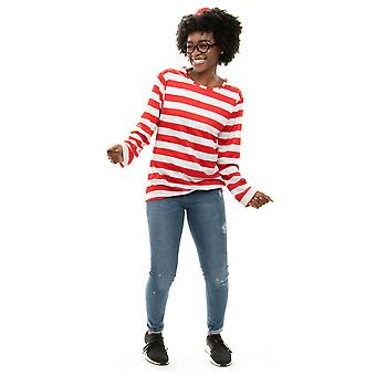 Where's Wally Halloween Costume - Women's Cosplay Outfit, L