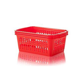 Wham opslag pakket van 3-medium plastic handige tidy Storage basket