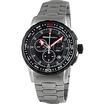 MOMO Design Pilot Watch MD2164SS-10 - Stainless Steel Gents Quartz Chronograph
