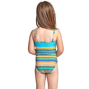 Zoggs Girl's Classicback Einteiliger Badeanzug in Mehrfarben Elastomax