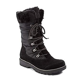 Bare Traps Womens satin wate Leather Round Toe Mid-Calf Cold Weather Boots