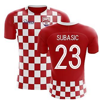2020-2021 كرواتيا علم مفهوم كرة القدم قميص (Subasic 23)